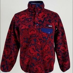 Patagonia Floral Print Synchilla Fleece Pullover